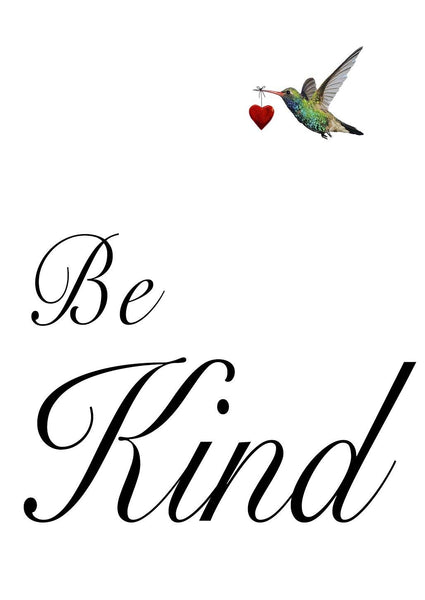 BE KIND ART PRINT: Inspiring Message of Kindness Typography Poster