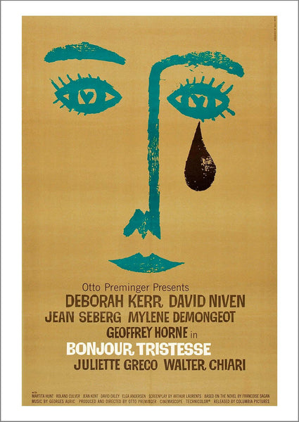 BONJOUR TRISTESSE: Movie Poster Reprint - The Print Arcade