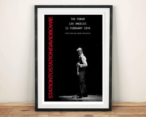 BOWIE TOUR POSTER: Station to Station Concert Artwork Print - The Print Arcade
