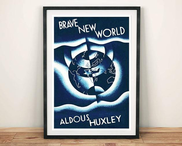 BRAVE NEW WORLD POSTER: Vintage Book Cover Art Print - The Print Arcade