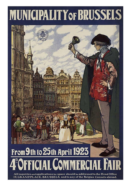 BRUSSELS POSTER: Vintage Commercial Fair Travel Print