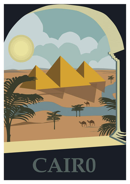 CAIRO POSTER: Vintage Egyptian Travel Print