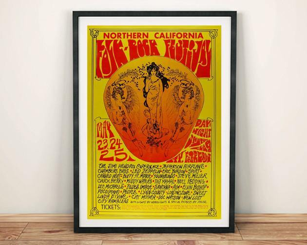 CONCERT POSTER: Northern California Folk Rock Festival 1968 - The Print Arcade