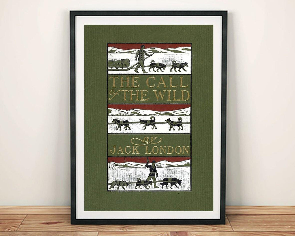 CALL OF THE WILD PRINT: Vintage Jack London Book Cover Art Poster