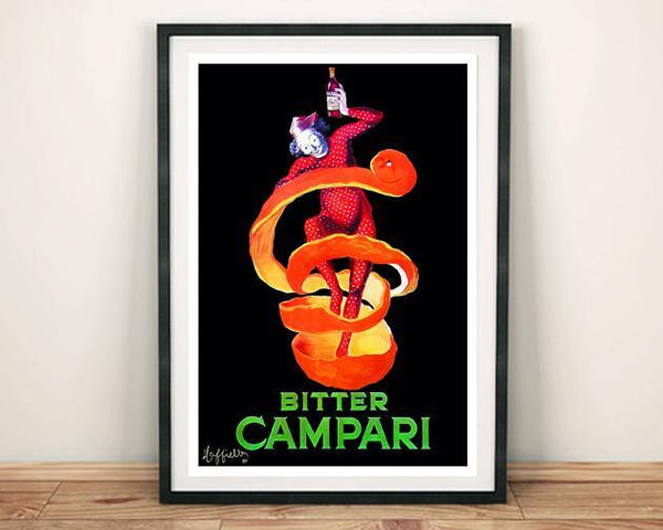 BITTER CAMPARI POSTER: Vintage Orange Drink Print - The Print Arcade
