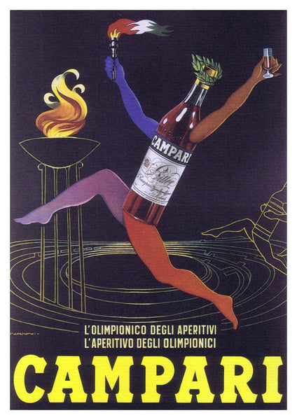 CAMPARI POSTER: Vintage Alcohol Soda Drink Art Print - The Print Arcade