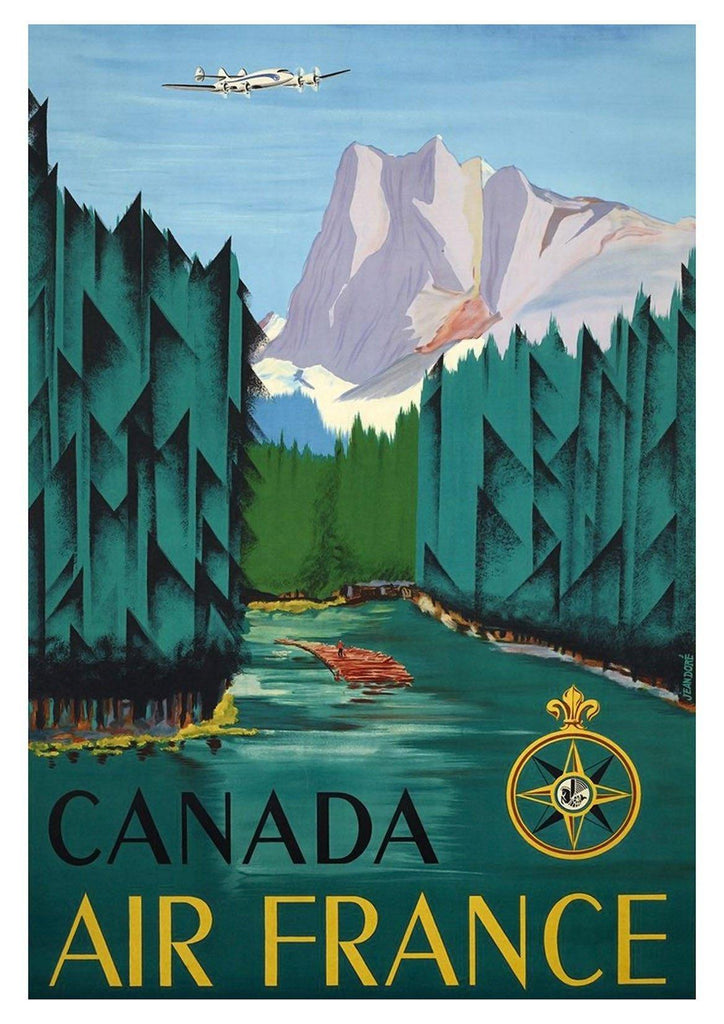 CANADIAN TRAVEL POSTER: Vintage Green Forest Tourism Print - The Print Arcade