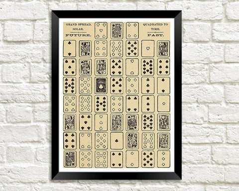 PLAYING CARDS PRINT: Mystic Test Book Art Illustration