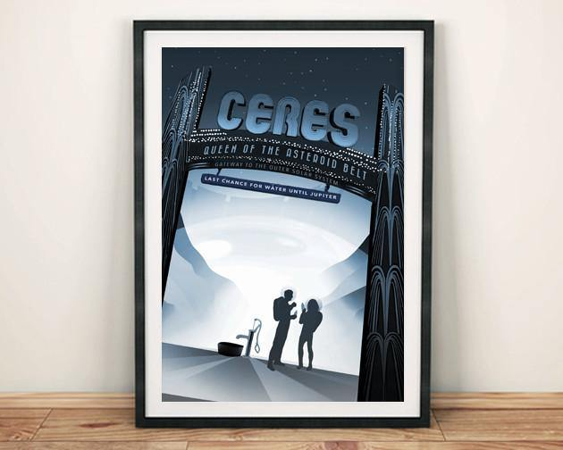 CERES POSTER: NASA Dwarf Planet Space Print - The Print Arcade