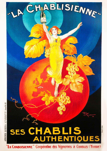 CHABLIS POSTER: Vintage French Wine Art Print - The Print Arcade