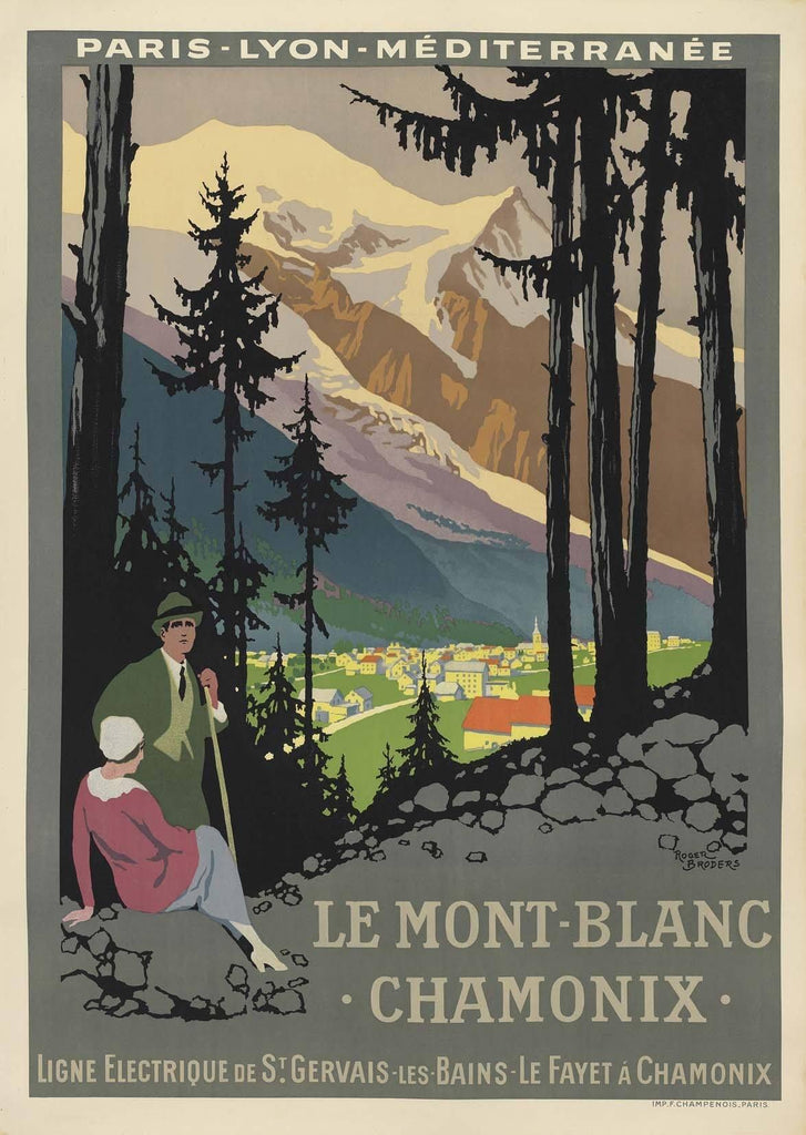 CHAMONIX POSTER: Le Mont Blanc Summer Travel Print - The Print Arcade