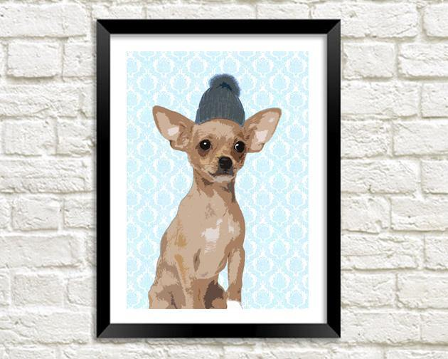 CHIHUAHUA PRINT: Fun Dog Art - The Print Arcade