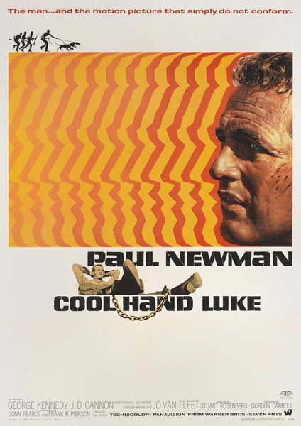 COOL HAND LUKE: Hollywood Movie Poster Art Reprint - The Print Arcade