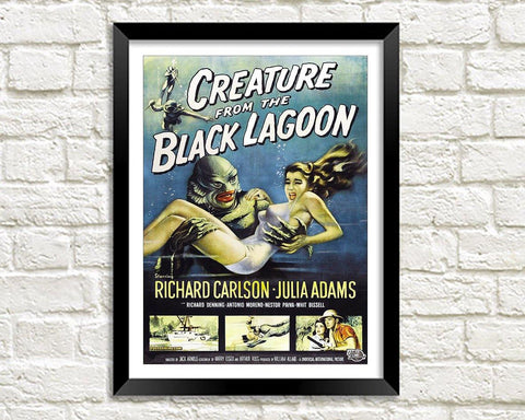 HORROR MOVIE POSTER: Creature from the Black Lagoon Print