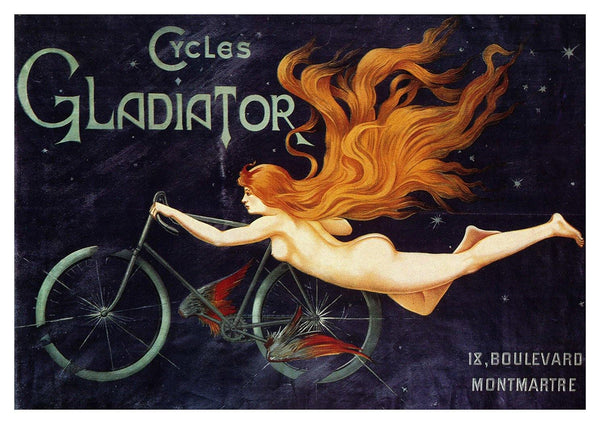 BICYCLE POSTER: Vintage Gladiator Cycles Advert Art Print - The Print Arcade