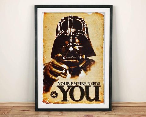 DARTH VADER POSTER: Your Empire Needs You Reprint - The Print Arcade