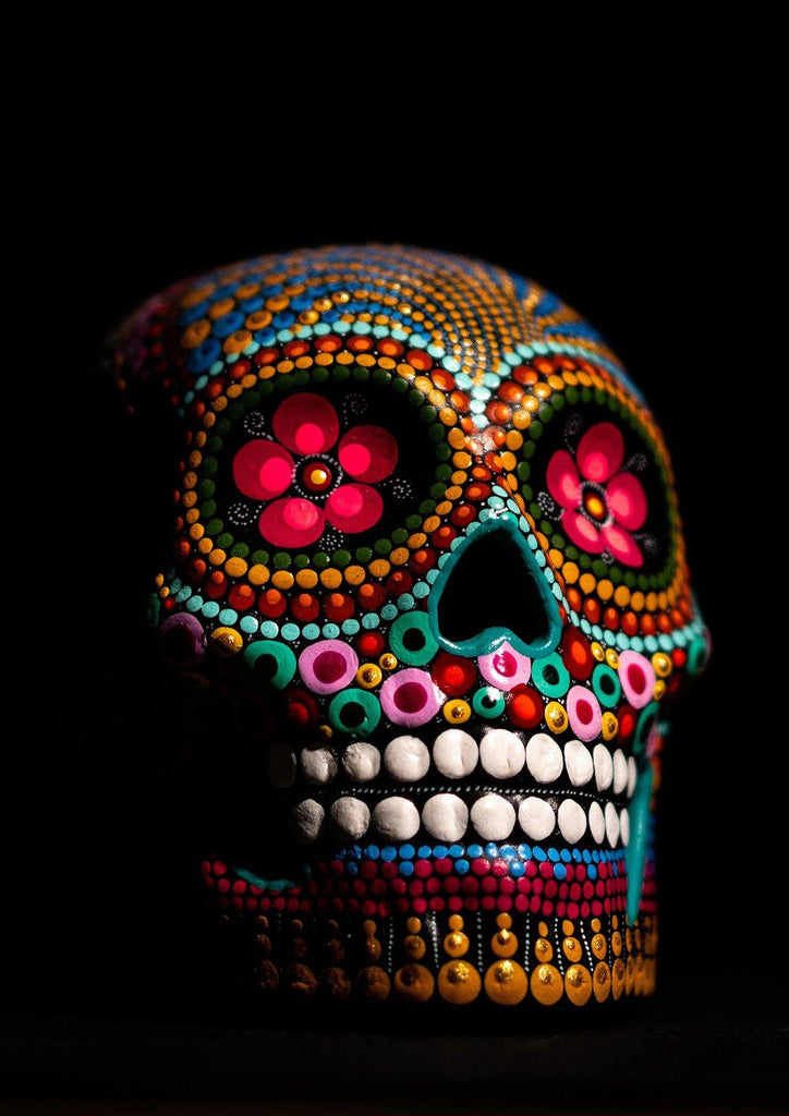 SUGAR SKULL PRINT: Day of the Dead Photo Art - The Print Arcade