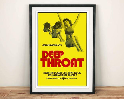 DEEP THROAT POSTER: Cult Adult Movie Print