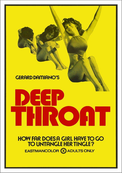 DEEP THROAT POSTER: Cult Adult Movie Print - The Print Arcade
