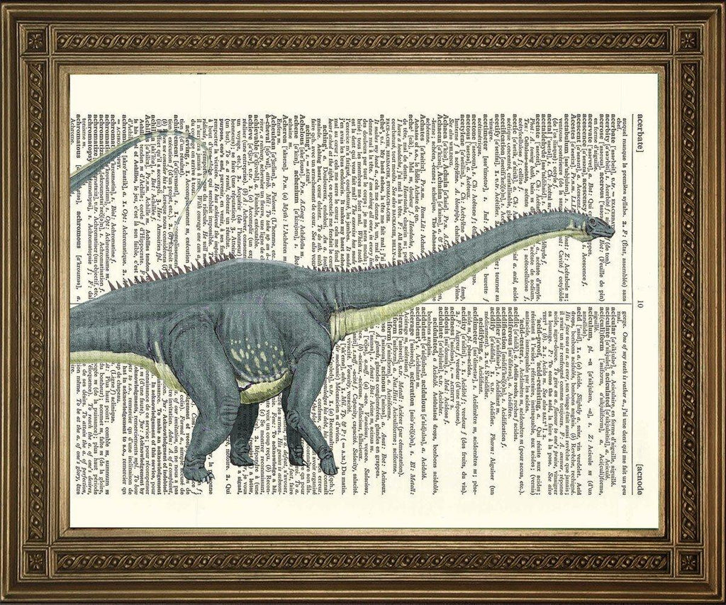 DIPLODOCUS DICTIONARY PRINT: Dinosaur Art Illustration - The Print Arcade