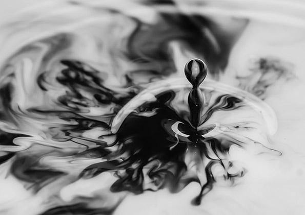 WATER DROP PRINT: Splash Abstract Photo Art - The Print Arcade