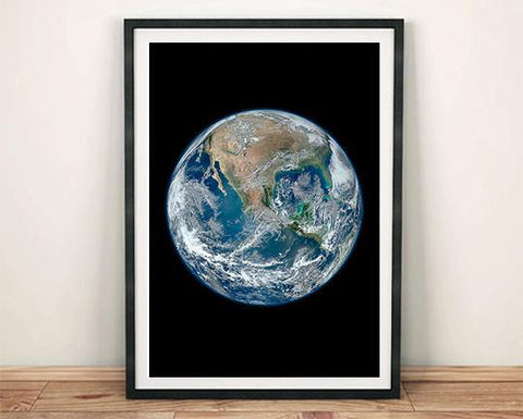 EARTH PHOTO: Blue Marble Space Poster