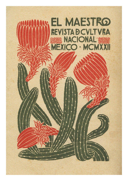 EL MAESTRO POSTER: Mexican Culture Art Exhibition Print - The Print Arcade