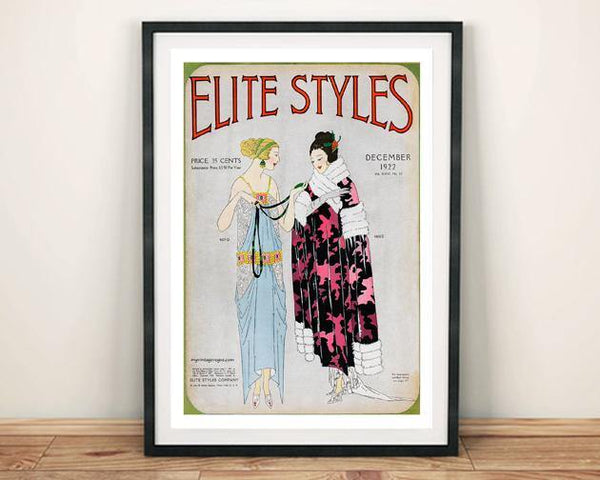 ELITE STYLES POSTER: Vintage Fashion Cover Art - The Print Arcade