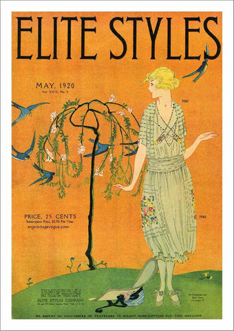 ELITE STYLES POSTER: Orange Fashion Cover Art - The Print Arcade