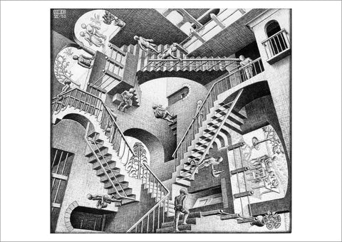 MC ESHER: Impossible Stairs Relativity Print - The Print Arcade