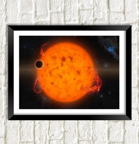 NASA SPACE POSTER: Exoplanet Orbiting Young Star - The Print Arcade