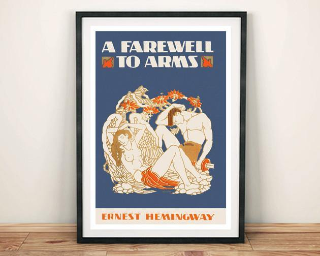BOOK COVER PRINT: A Farewell to Arms Hemingway Art Poster