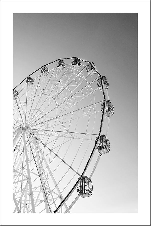 FERRIS WHEEL PRINT: Fairground Photo Wall Art