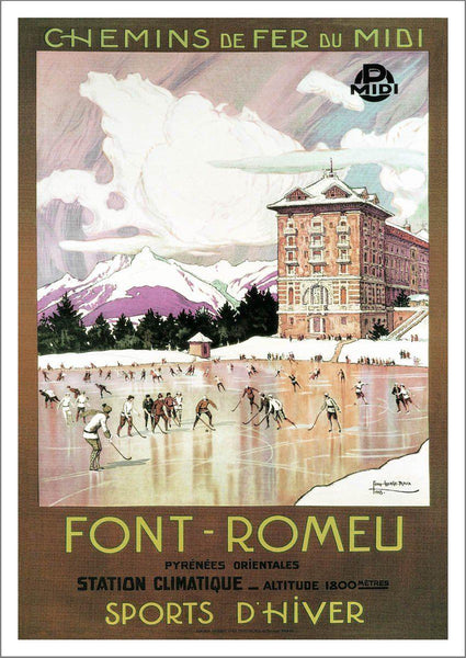 FONT ROMEU POSTER: Vintage France Travel Advert Print - The Print Arcade