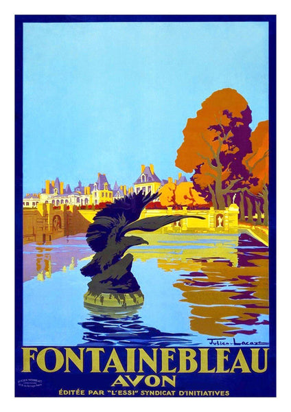 FONTAINEBLEAU FRANCE POSTER: Vintage Travel Advert Art Print - The Print Arcade