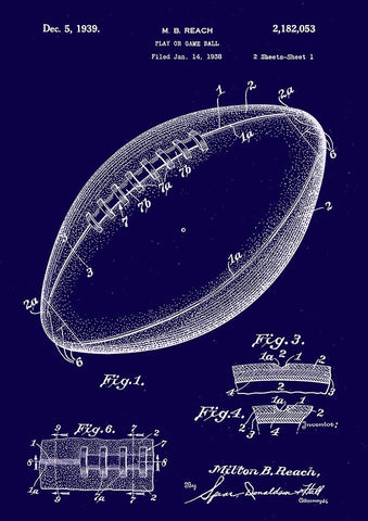 BALL PATENT PRINT: Sport Blueprint Artwork