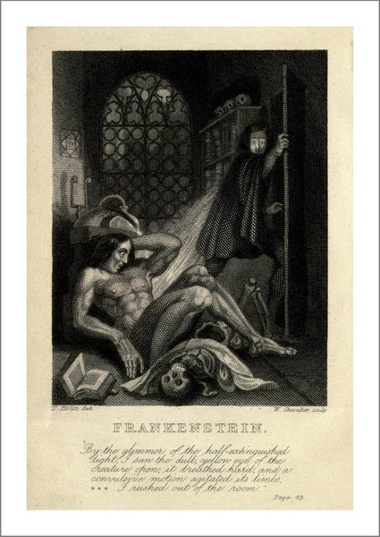 FRANKENSTEIN POSTER: Vintage Book Cover Art Print - The Print Arcade