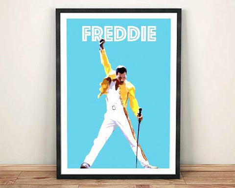 FREDDIE MERCURY POSTER: Queen Singer Artwork Print - The Print Arcade