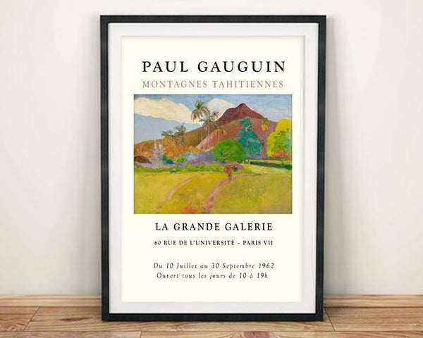 GAUGUIN POSTER: Tahitian Mountains Exhibition Print - The Print Arcade