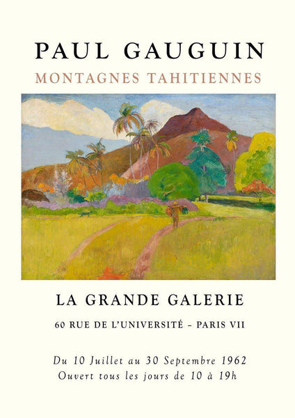 GAUGUIN POSTER: Tahitian Mountains Exhibition Print