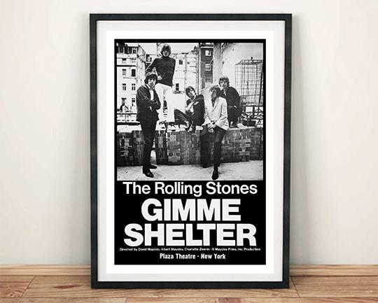 Rolling Stones Poster Gimme Shelter Movie Art Print The