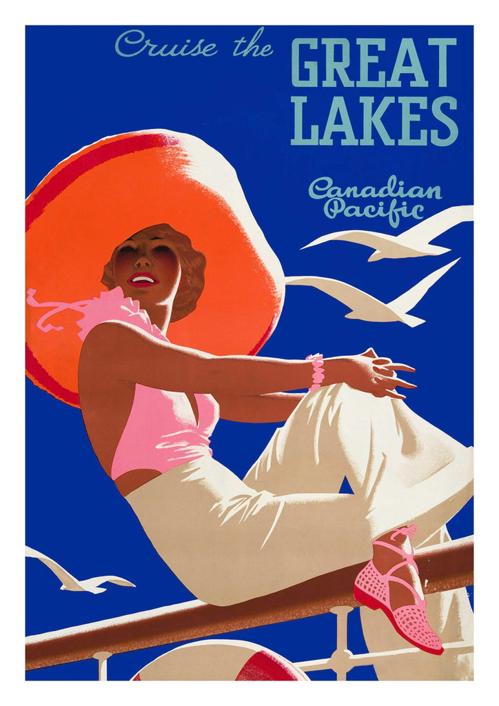GREAT LAKES POSTER: Vintage Canadian Travel Advert - The Print Arcade