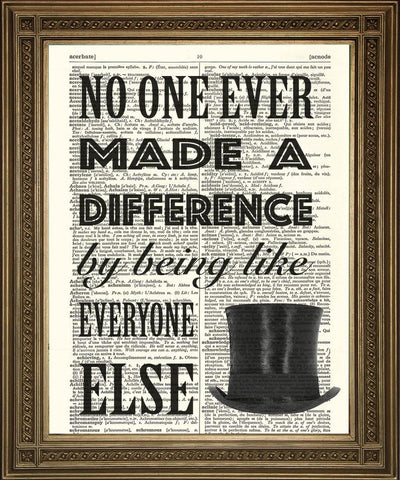 GREATEST SHOWMAN PRINT: Inspirational Quote Dictionary Art - The Print Arcade