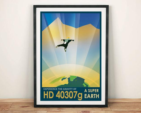 SUPER EARTH POSTER: NASA 'Exoplanet' Space Print HD40307g - The Print Arcade