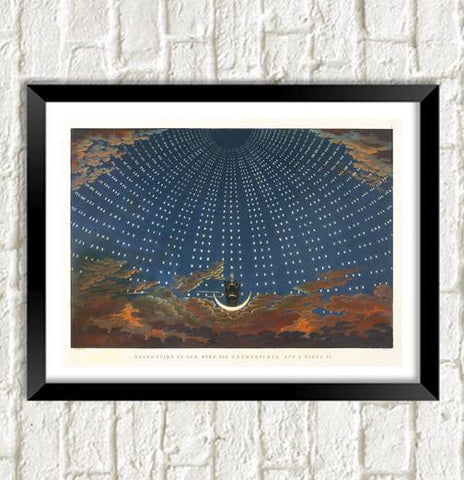 HALL OF STARS PRINT: Magic Flute Opera Artwork - The Print Arcade