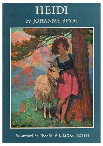 Old Book Cover Posters ~ Heidi poster vintage book cover art print the arcade