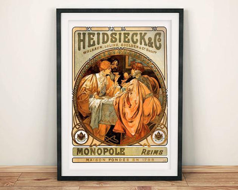 HEIDSIECK POSTER: Vintage Champagne Art Print - The Print Arcade
