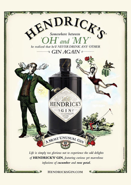 HENDRICK'S GIN ADVERT: 'Oh My' Alcohol Poster - The Print Arcade