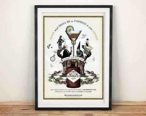 HENDRICK'S GIN POSTER: Inspired Alcohol Advert Print - The Print Arcade