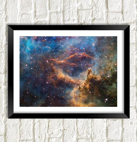 HUBBLE UNIVERSE POSTER: Stunning Space Art Photo
